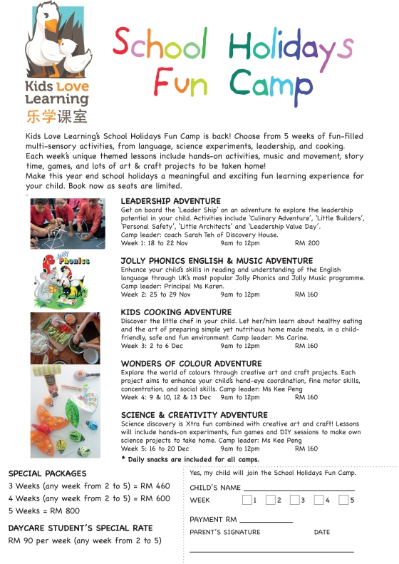 2013 Year End Holiday Camp Flyer copy